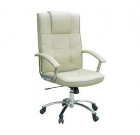BS3900 Πολυθρόνα Γραφείου Διευθυντική Με Κρεμ PU