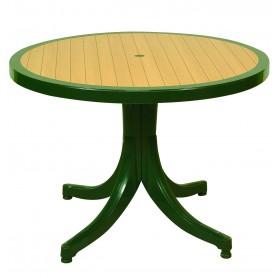 Diva Πλαστικό Τραπέζι Στρογγυλό 105x75 εκ.