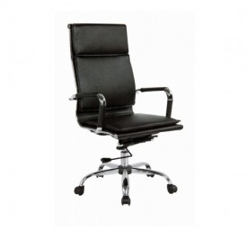 BS 7900 Πολυθρόνα Γραφείου Με Μαύρη Δερματίνη