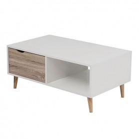 Siera Τραπεζάκι Σαλονιού White/S.Oak 100x60x43cm