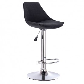 Σκαμπό Μπαρ88 Bar88 Black/Grey Υφασμάτινο Με Αμορτισέρ 38x46x85-105cm