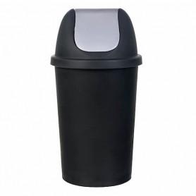 Πλαστικός Κάδος Απορριμάτων Παλλόμενος Μαύρο 50Lt Φ36xΥ73cm