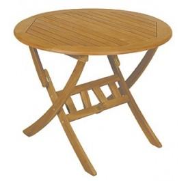 Acacia Wood Τραπέζι Πτυσσόμενο Στρογγυλό  75 x 70 εκ.
