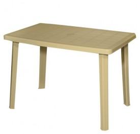 Τραπέζι Πλαστικό Ορθογώνιο 70x110 εκ. Με Ίσια Πόδια Μπεζ 903-B